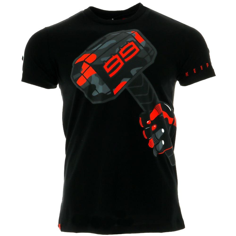 2018 Jorge Lorenzo 99 Moto GP Hammer Motor Sports Summer Men's T-shirt Black jorge drexler quito