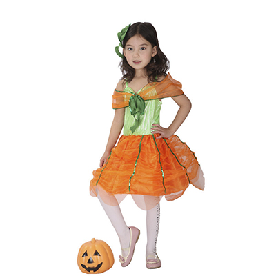 Halloween costume children's costumes sweet pumpkin skirt dress cosplay wholesale