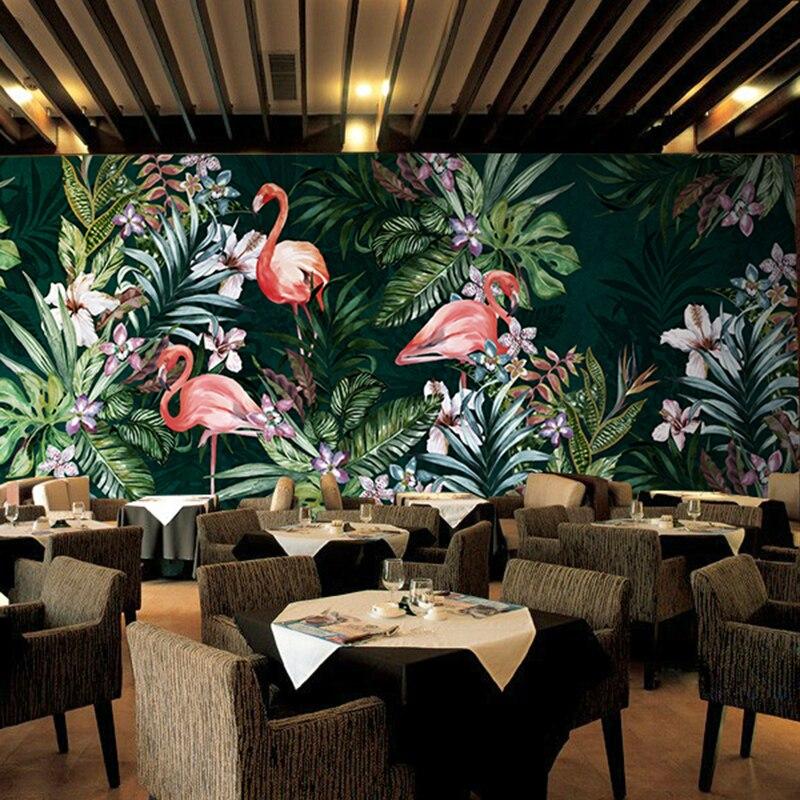 Online kopen wholesale flamingo behang uit china flamingo behang groothandel - Behang voor restaurant ...