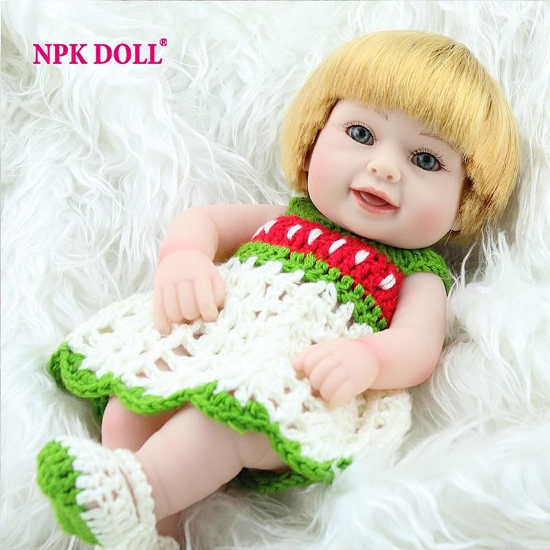 NPKDOLL Reborn Baby Doll Full Vinyl Smile Newborn Babies Doll For Girls 10 Full Silicone Reborn Baby Classic Children Gifts