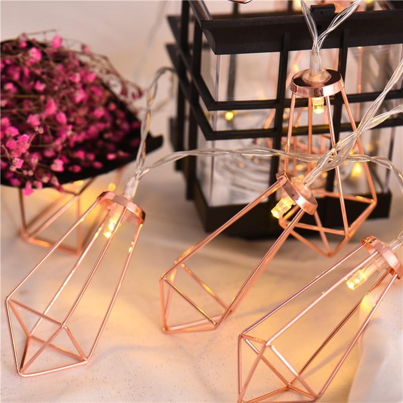 20 stks Led String Light Rose Gold Diamond Batterij Aangedreven Fairy - Buitenverlichting