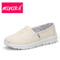 MINIKA 2017 New Arrival Women Vulcanize Shoes Light Comfortable Women Casual Shoes Slip On Shoes For