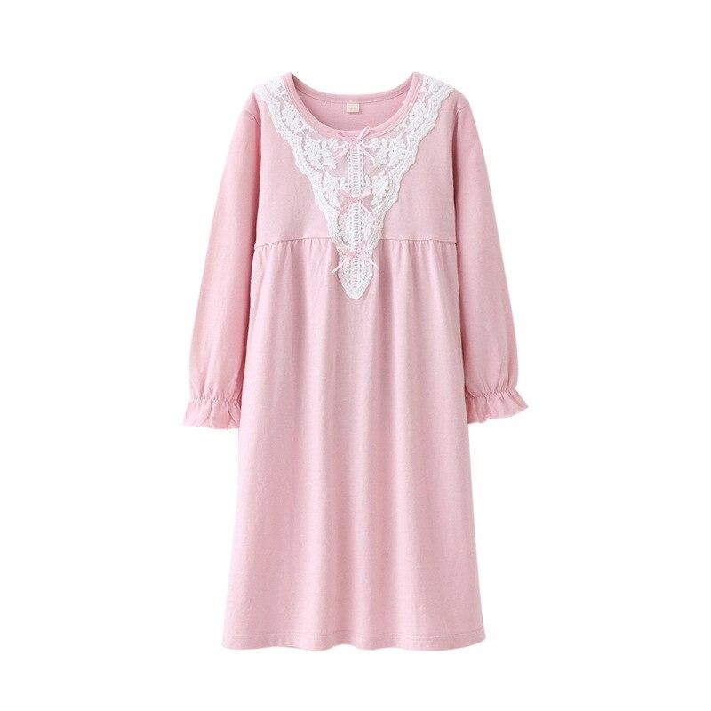 Girls Kids Pajamas Nightdress Long Sleeve Striped Nightwear 100/%Cotton Nightgown