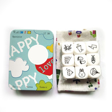 New Telling Story Dice Game Story Metal Box/Bag English Instructions Family/Parents/Party Funny Imagine Magic Toys basic action story dice puzzle board game telling story family party friends parents with children