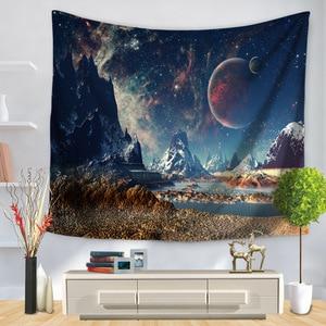Image 5 - פסיכדלי קוסמי סדרת כוכבים שטיח שמי זרועי הכוכבים בד קיר תליית דקור פוליאסטר וילונות בתוספת שולחן כיסוי יוגה