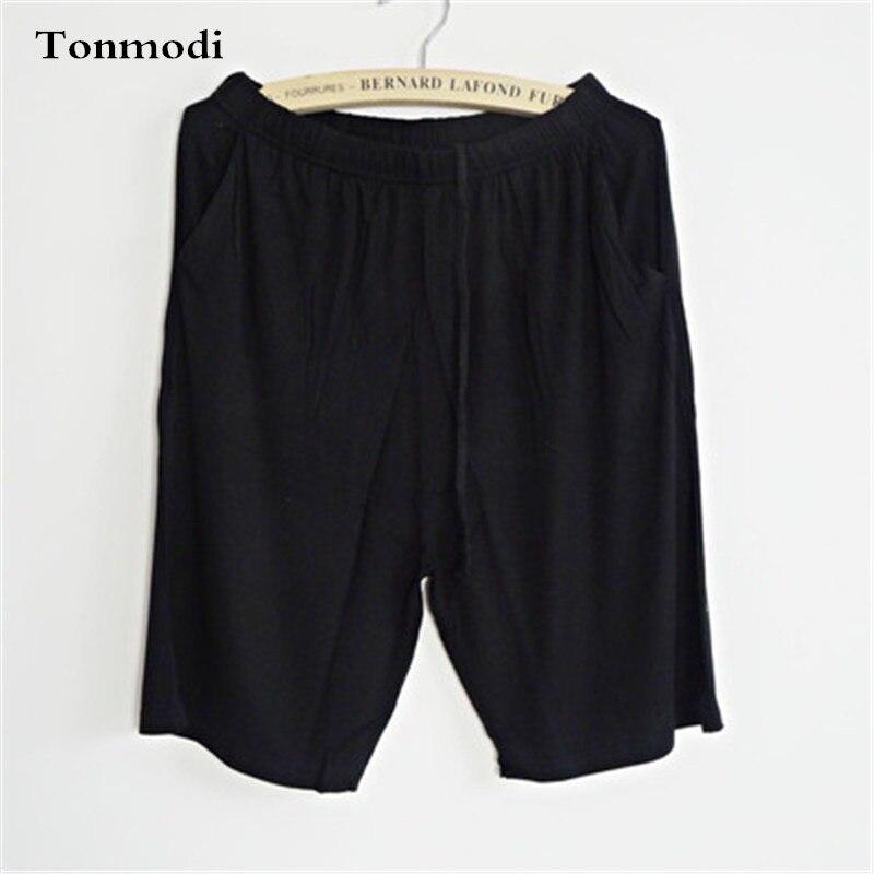 Pajamas Pants Women Summer Shorts Men Modal Shorts Thin Solid Women's Beach Pants Lounge Couple Sleep Bottoms