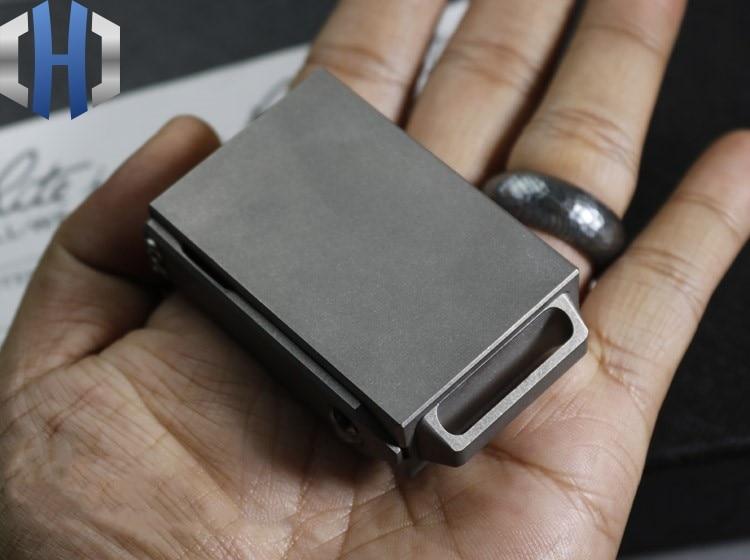 Image 2 - Creative Portable Compact EDC Titanium Alloy Draw Matchbox Outdoor Tactical Storage BoxCrowbars   -