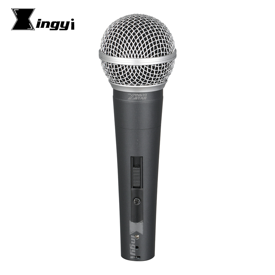 Version Pro Commutateur De Poche Micro Vocal Dynamique Microphone Mike Pour SM58LC SM 58SK Amplificateur Karaoké Système Studio Église Parlant
