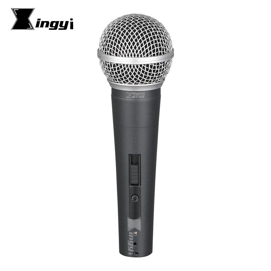 Versione Pro Interruttore Palmare Microfono Vocale Dinamico Microfono Mike Per SM58LC SM 58SK Amplificatore di Karaoke Sistema di Studio Chiesa Parlando