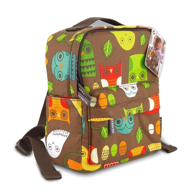 2016 búho lindo del bebé mochila niños bolsos de escuela del cabrito de los niños dot niño bolsa de viaje bolsa de hombro madre hija para la edad 1-4