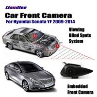 Liandlee For Hyundai Sonata YF 2009 2014 2010 Car Front View Logo Embedded Camera AUTO CAM ( Not Reverse Rear Parking Camera )