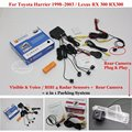 For Toyota Harrier 1998~2003 / Lexus RX 300 - Car Parking Sensors + Rear View Camera = 2 in 1 Visual / BIBI Alarm Parking System