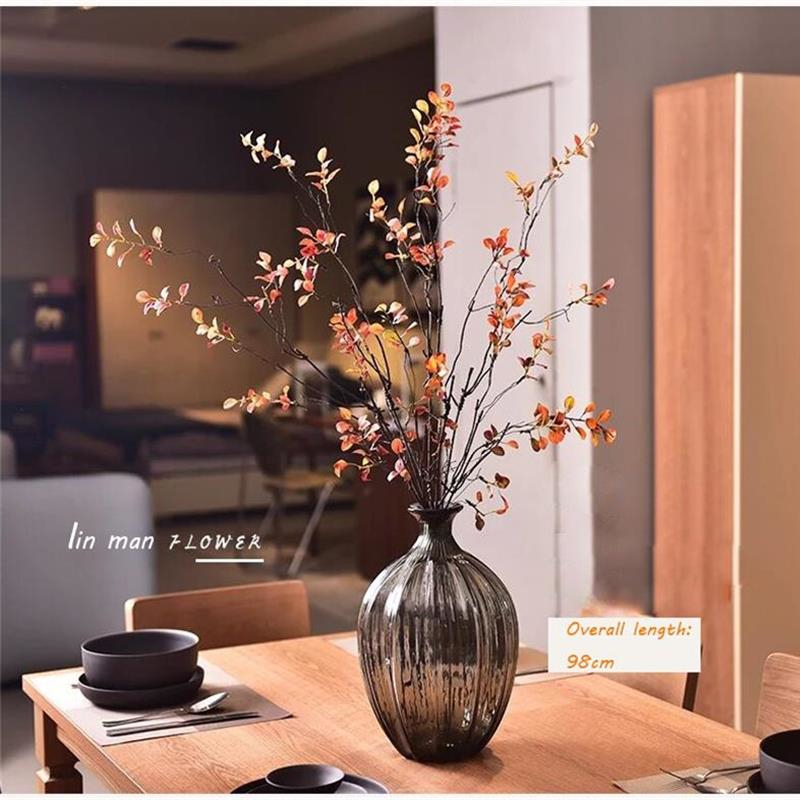 Artificial green plants spring leaves glued leaves autumn leaves spring buds dried branches branches 2style for party Home in Artificial Plants from Home Garden