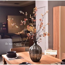Artificial green plants spring leaves glued autumn buds dried branches 2style for party Home