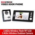 2.4 ГГц 7 Inch Беспроводной Видео-Телефон Двери Аудио и видео Домофон Монитор С Камерой CMOS Беспроводная Видео-Домофон