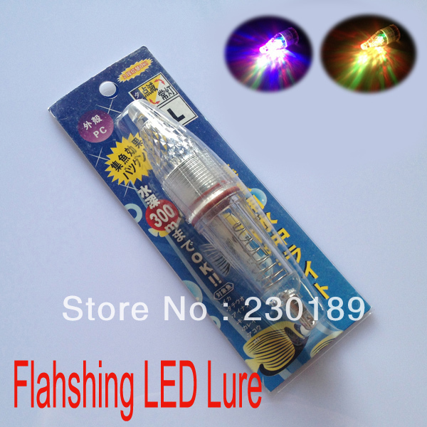 13cm 33g RGB Flashing LED Deep Drop Underwater Fishing Lure Baits Squid Lures Light 130mm - Online Store 230189 store