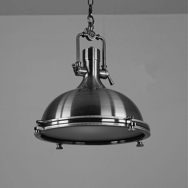 American vintage loft lámpara colgante E27, cobre/cromo colgante ...