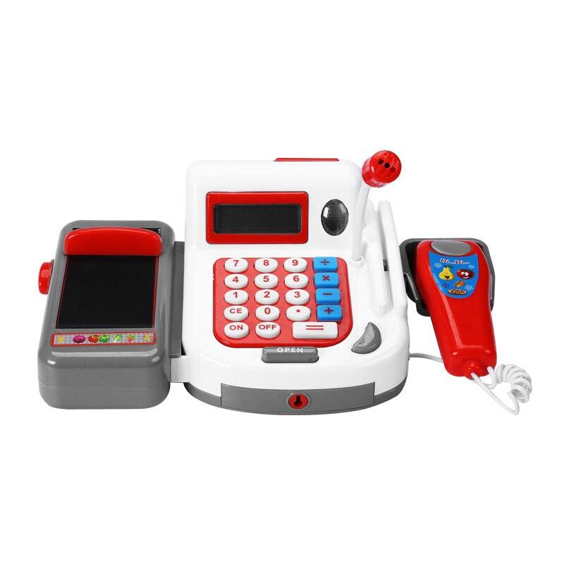 40pcs Kids Play Baby Simulation Cash Register Toy Girl Boy Supermarket Cash Register Kids Children Supermarket Toys Gift XWJ447