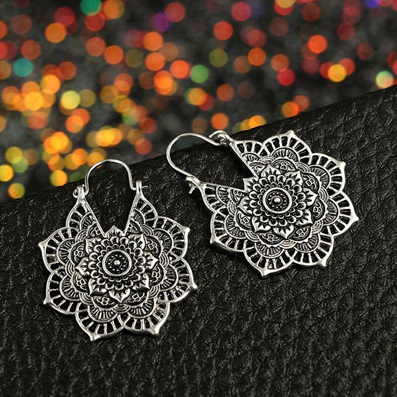 NEW Cute Womens Antique-Silver-Color Metal Heart Key Dangle Drop Hook Earrings