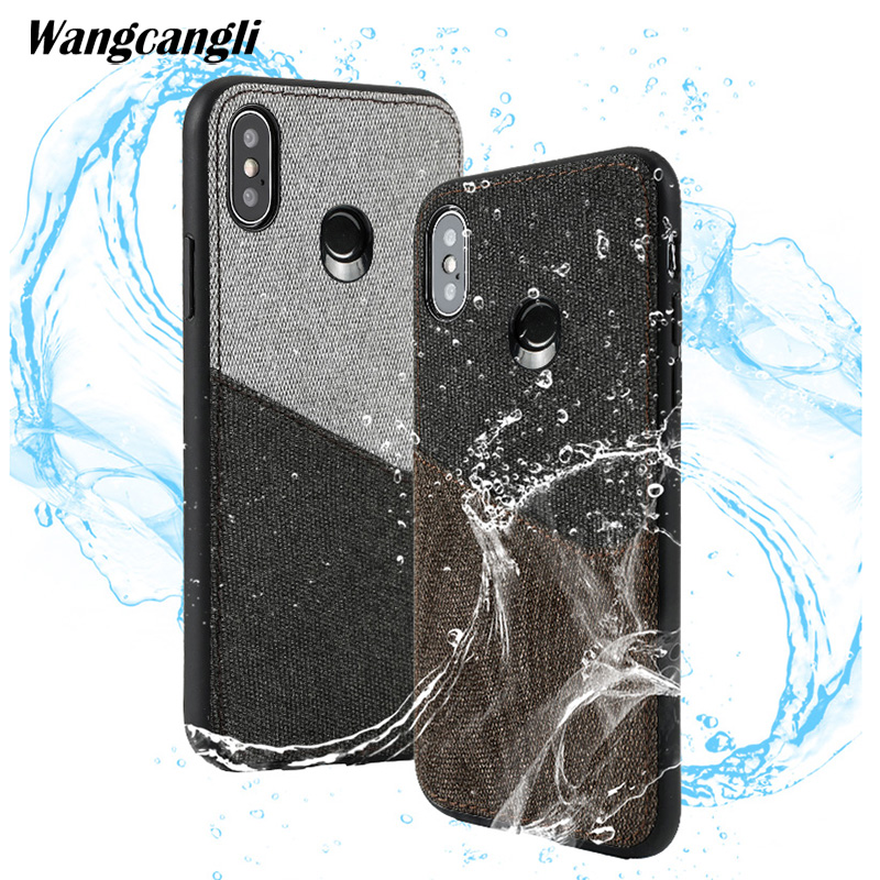 Wangcangli Customized leather canvas stitching card all-inclusive mobile phone case for xiaomi mi mix2s shatter-resistant shellWangcangli Customized leather canvas stitching card all-inclusive mobile phone case for xiaomi mi mix2s shatter-resistant shell