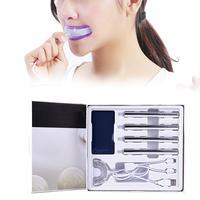 Teeth Whitening Kit 2G Gel Rotary Pen Red Blue USB Wire Lamp Dental Instrument Set