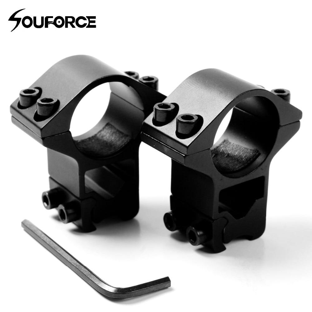 """Profil înalt 1 pereche 25,4mm inel 1 '' & 11mm Șină de portbagaj 3/8 """"Suport montant pentru pușcă Accesorii pentru vânătoare"""