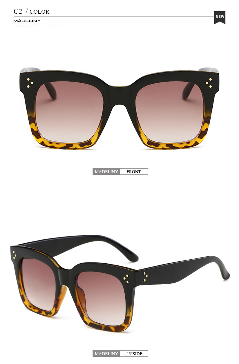 HTB1mSL9X6gy uJjSZK9q6xvlFXaU - MADELINY Fashion Sunglasses Women Vintage Brand Design Square Luxury Sun glasses Big Frame Shades Eyewear Oculos UV400 MA033