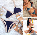 2017 New Sexy Women High Neck Bikini Floral Bathing Suit, Bottom&top Brazilian Swimsuit Female Swimwear Print Biquines Swim Wear