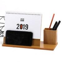 2019 Творческая Простой, маленький, Новый деревянные настольные украшения календарь