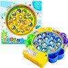 Elektroniczna gra wędkarska zestaw zabawek obróć muzyczny magnes ryby Juguetes elektryczne plastikowe zabawy edukacyjne zabawki dla dzieci prezent dla dziecka