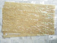 AAA grade natural surface yellow paua shell laminate for musical instrument and furniture inlay