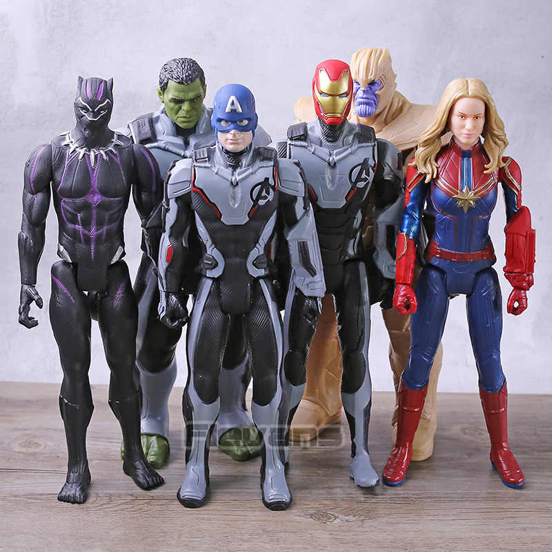 Titan Hero Series FX Thanos Hulk Captain America Marvel Iron Man Black Panther Avengers Endgame Action Figure ของเล่น