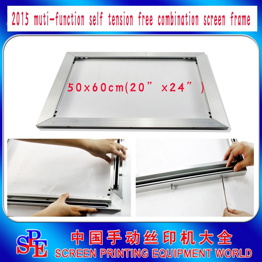 New Product Screen Printing Inner Diameter 50x60cm inner size self tensioning Frame Instead of Stretcher