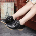 Children's shoes bow princess shoes Girls' leather shoes 100% genuine leather manufacturing