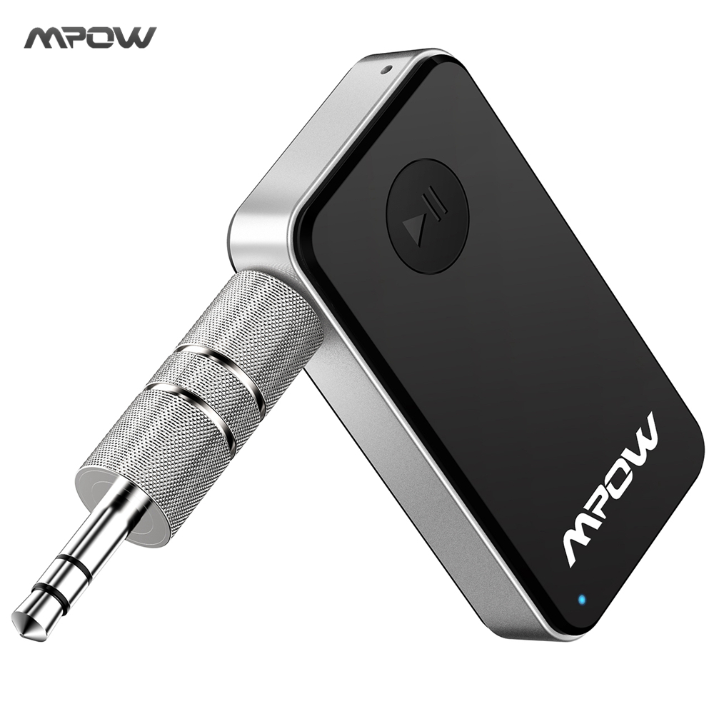 Original Mpow MBR1 Mini Wireless Bluetooth 4.0 Stereo Audio Music Receiver With Mic For Car Aux