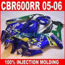 ABS plastic Injection Molding parts for HONDA CBR600RR 2005 2006 CBR 600 RR fairings 05 06 blue movistar fairing body kits