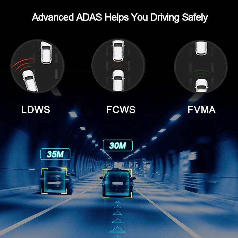 E-ACE E04 8 Inch Auto DVR Kamera Android 4G DVR GPS Navigator ADAS Auto Recorder 1080P HD Dash cam Nachtsicht rückansicht Kamera