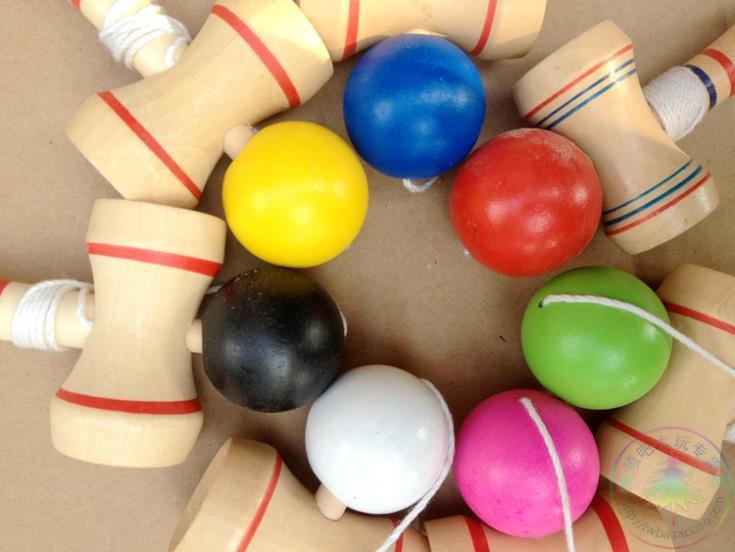 Fedex IE IP 200 шт./лот мини Kendama строки Профессиональный японии игрушка Kendama японский традиционные игры с мячом навыки труба