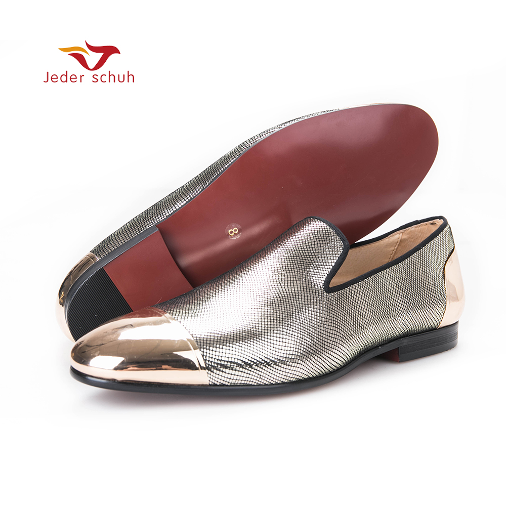 Classic Snake Print Silver Suede & Leather Linning Men Loafers accessorized Metal Toe and Counter For Banquet Daily and Wedding