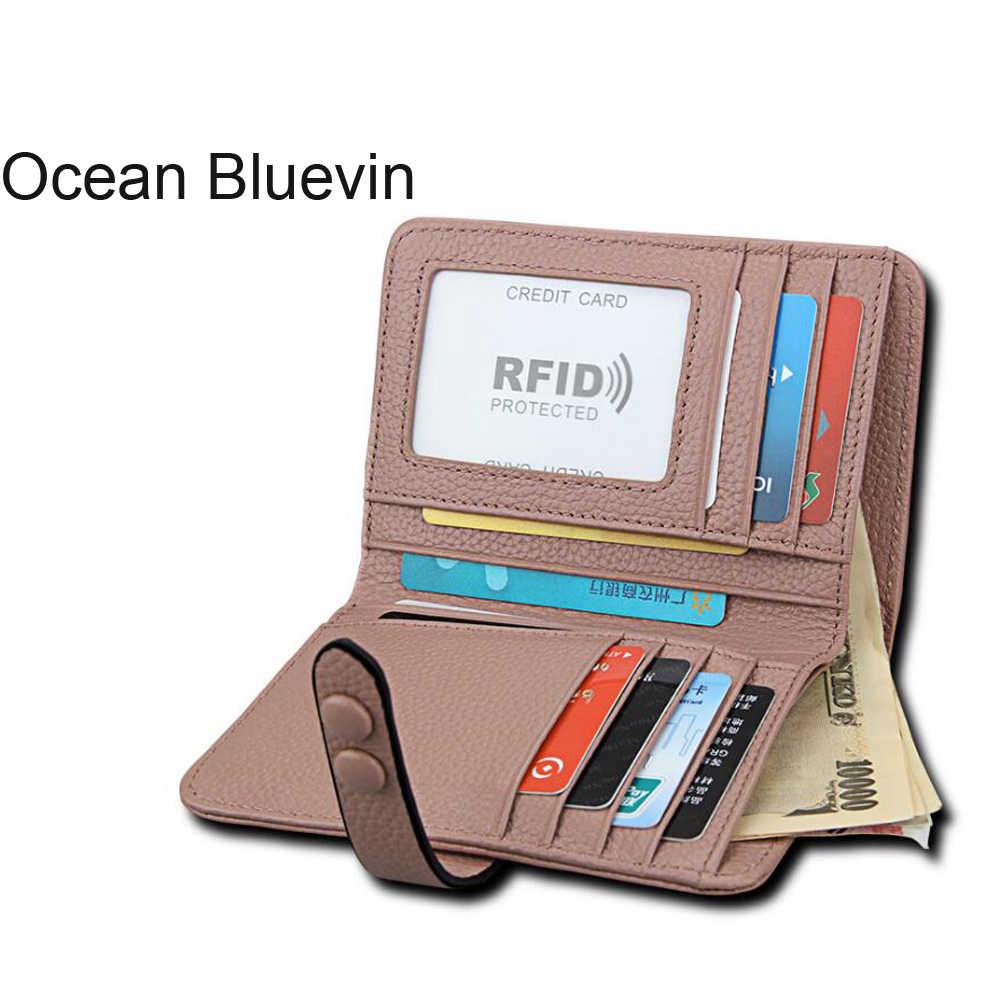 Океан BLUEVIN Новый горячий взрывной леди портмоне-клатч Противоугонная щетка анти-RFID Ms. card Кожаный Кошелек