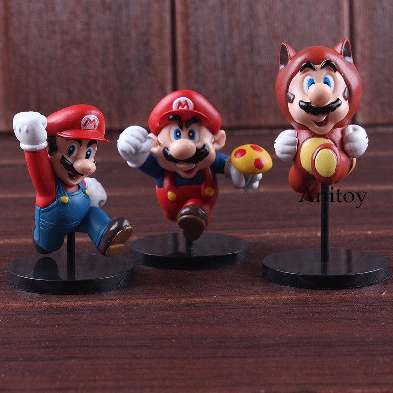 Furuta Ultra Detail Figure New Super Mario Bros.Wii Mario Bros Action Figures MEDICOM TOY Collectible Model Toy 3pcs/set