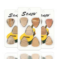 SOACH 10 guitars with wood grain thickness 0.71mm 1.00mm 0.46 celluloid and random guitar parts