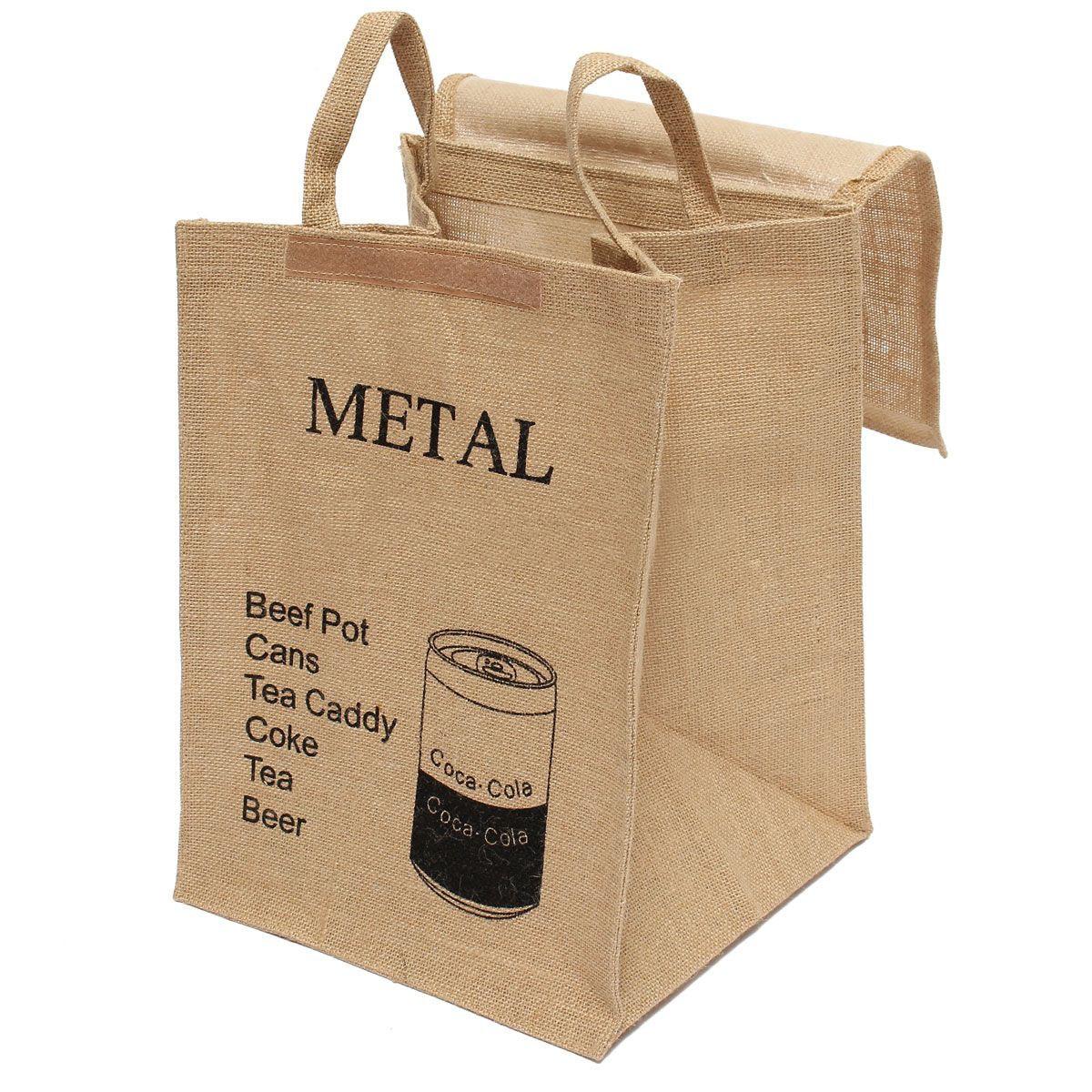 HOT-Large Cotton Linen Folding Laundry Washing Clothe Basket Bag Bin Storage Hamper