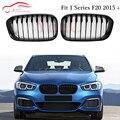 F20 1-slat глянцевый черный глянец M Решетка переднего бампера для BMW 1 серии F20 F21 2015 + 5-дверный хэтчбек ABS пластиковая решетка сетки