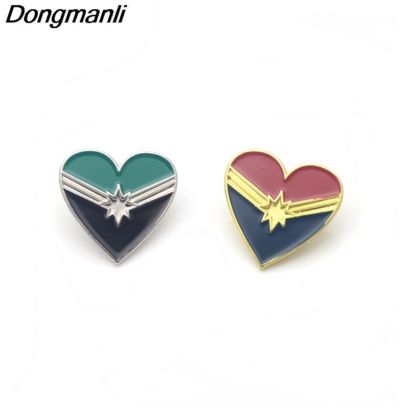 P3381 Wholesale 20pcs lot Superhero heart Metal Enamel Pins and Brooches for Women Men Lapel Pin