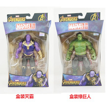 Marvel Avengers Infinity War Hulk Action Figure PVC Hulk Thanos Figurine Collectible Model Toy 18cm цена и фото