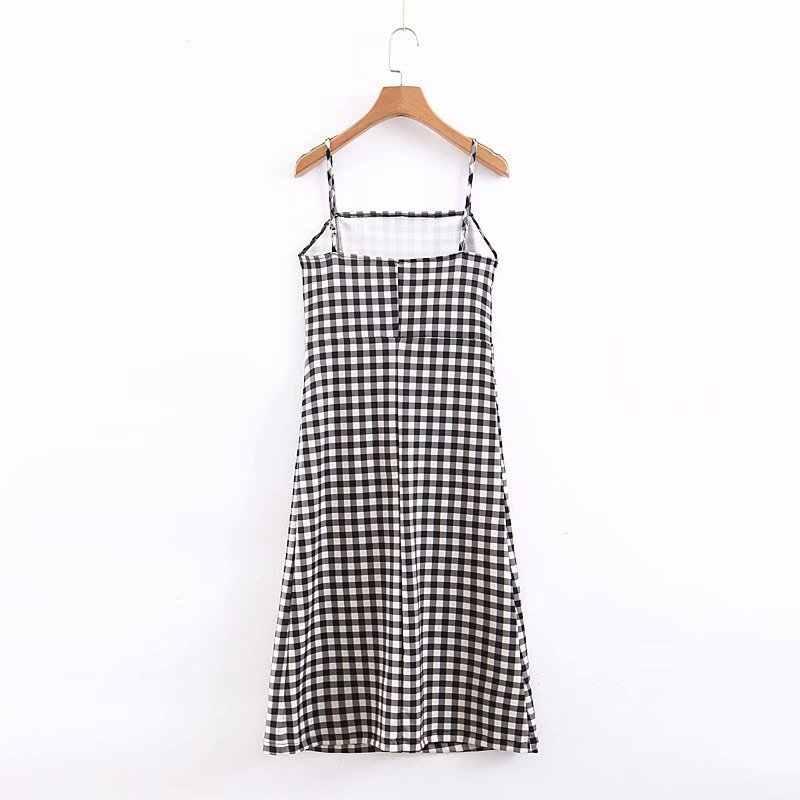 RR черные белые клетчатые платья женские s сексуальные мини-платья на бретельках Женские летние платья без рукавов женские Vestidos De Fiesta De Noche
