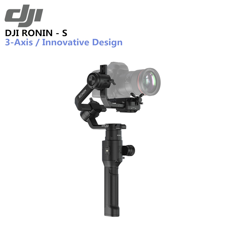 Original DJI Ronin-S Superior 3-Axis Stabilization 3.6kg Tested Payload Capacity Max Battery Life 12hrs Automated Smart Features