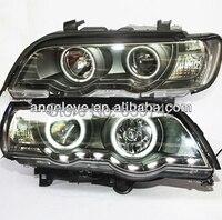 E53 X5 Head Lamp CCFL Angel Eyes For BMW LF 1999 2003 year