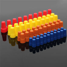 Lowest Price 70PCS Electrical Wire Twist Nut Connector Terminals Cap Spring Insert Assortment 4 Colors Red Yellow Blue Orange(China)